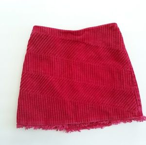 Talbots Kids Pink Corduroy Girls Skirt Size 6